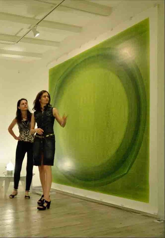 Wall Art Licensing | Art Basel, Miami exhibition | Minimal Art series, graphic art – green