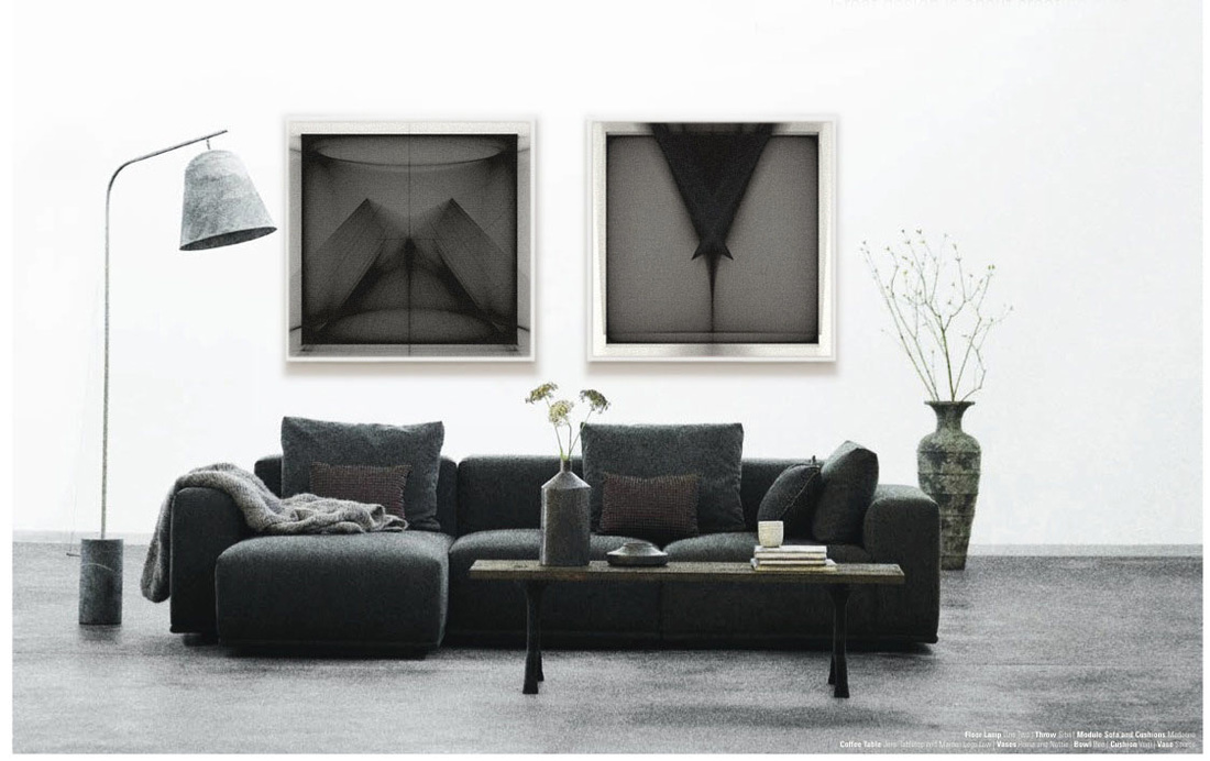 Wall Art Licensing | Black & white wall art, in an open office lounge | Graphic Design