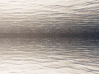 To the horizon, abstracted water image by Petra Trimmel